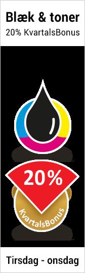 20% kvartalsbonus på blæk