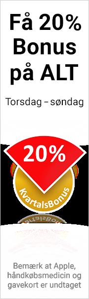 20 % kvartalsbonus på ALT