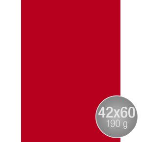 Image Coloraction 42x60, 190g, 100ark, postrød