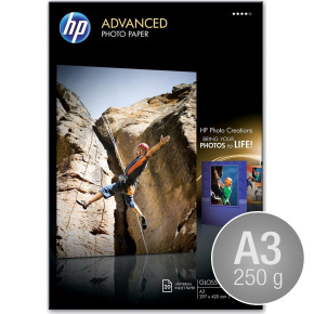HP Q8697A blank inkjetfoto, A3/250g/20ark