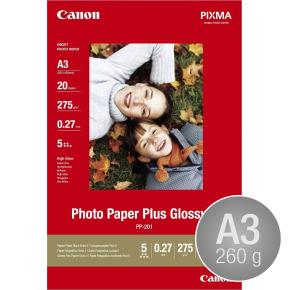 Canon PP-201 blank inkjetfoto, A3/260g/20 ark