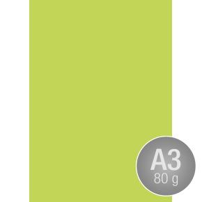 Image Coloraction A3, 80g, 500ark, limegrøn