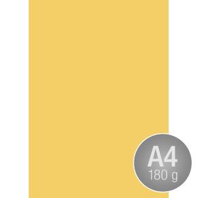 Karton Play Cut A4, 180g, A4, 100ark, kanariegul