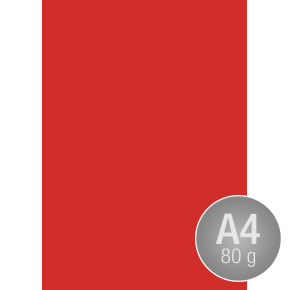 Image Coloraction A4, 80g, 500ark, valmuerød