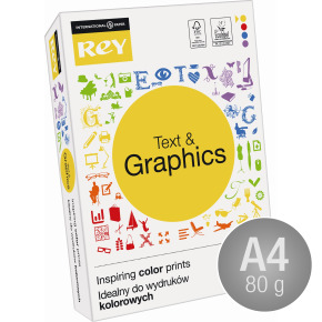 Rey Text & Graphics Kopipapir A4/80g/500ark