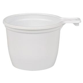 Kaffekop med hank 21cl, hvid