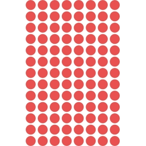 Avery 3010 manuelle etiketter, 8mm, røde, 416 stk