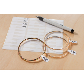 Avery 3335 ring etiketter, 54 x 11mm, 924stk
