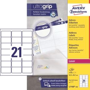 Avery L7160-100 Q.P. adr.etiketter, 63,5 x 38,1mm