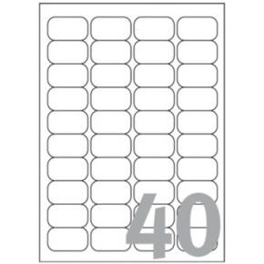 Avery L7654-100 mini etiketter, 45,7 x 25,4mm