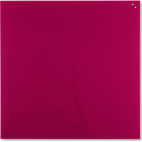 Glassboard magnetisk glastavle 100x100 cm, rød