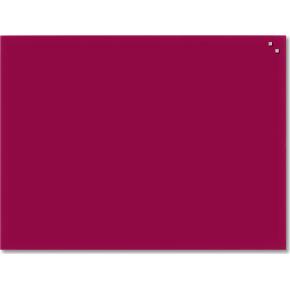 Glassboard magnetisk glastavle 60x80 cm, rød