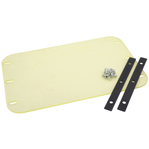 Gummimåtte til pladevibrator, inkl. monteringsdele