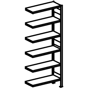 META Clip 150 kg, 300x100x(2x40), Tilbyg, Pulverla