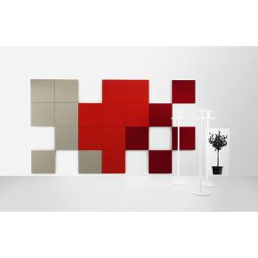 Abstracta Solo vægpanel rød 100x100 cm