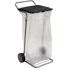 Affaldsspand med låg og hjul