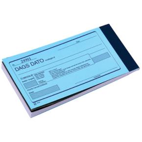 Dags dato med kopi, 2 x 50 blade, 8,5 x 14,8cm