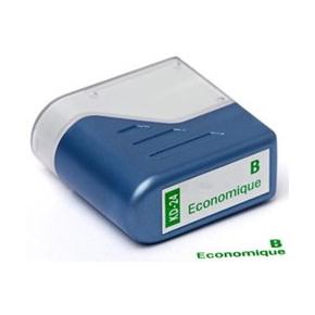 """Deskmate stempel med tekst: """"B economicque"""""""