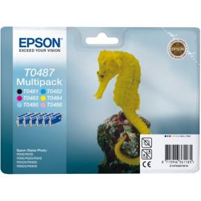Epson nr.T0487/C13T04874010 blækpatroner, sampak