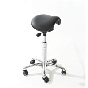 CL Mini sadelstol, sort, kunstlæder, 58-77 cm