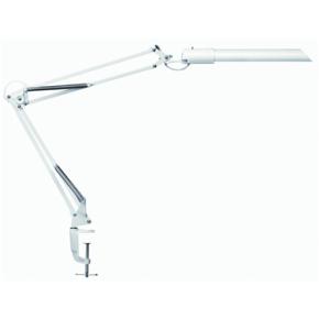 Unilux Swingo lampe hvid med bordklemme