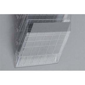 Durable Flexiboxx Frontplade, vandret, transparent