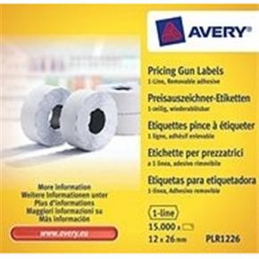 Prisetiketter til prismærkningsmaskine u/sikring