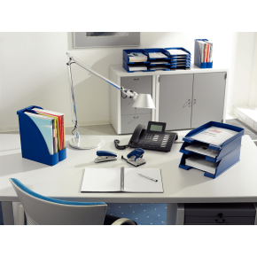 Leitz Plus Jumbo brevbakke tværformat, blå