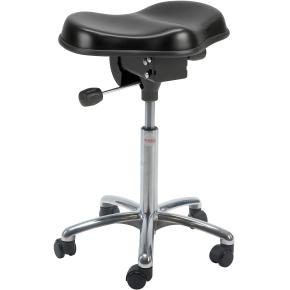 Pluto stol, alu-fodkryds m/ hjul, sort
