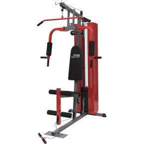 Titan 50 kg Homegym, rød