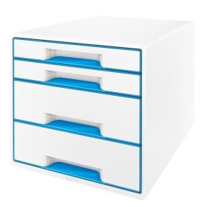 Leitz WOW CUBE skuffekabinet, 4 skuffer, blå
