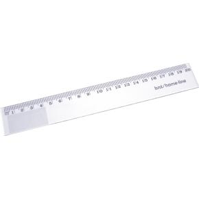 Lineal, plast glasklar, 20 cm