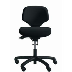 RH Activ 200 kontorstol lav ryg, medium sæde sort
