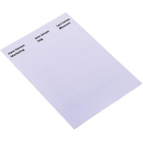 Navneetiket kongresmærker, A4 til print, 40 x 70mm