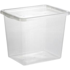 Basic plastboks inkl låg, 29 liter, Klar