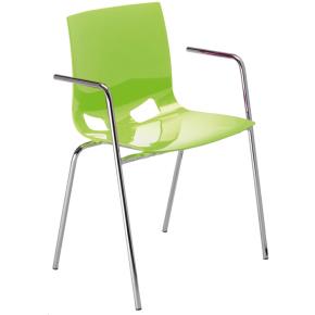 Fondo cafestol m/ armlæn lys grøn /krom