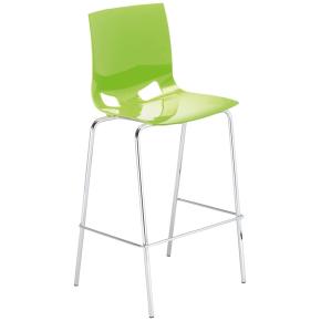 Fondo barstol lys grøn/krom