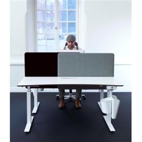 Screenit slide bordskærmvæg B100xH65 cm blå