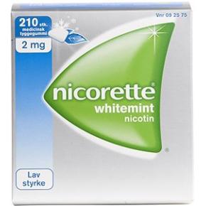 Nicorette Whitemint Tyggegummi, 2 mg, 210 stk.