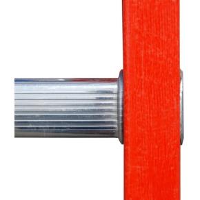 3-delt Kombistige glasfiber/alu - Højde 7,29 m