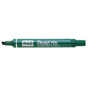 Pentel N60 permanent marker, sort