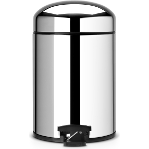Brabantia Retro Pedalspand 5 liter, blank stål