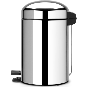 Brabantia Retro Pedalspand 3 liter, blank stål