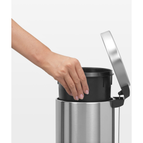 Brabantia Pedalspand 3 liter, mat stål