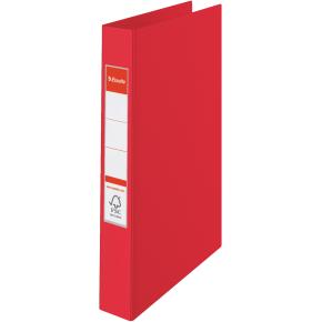 Esselte Vivida ringbind A4, 4 ringe, 25mm, rød