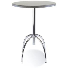 Riviera cafébord H108,5 x Ø 60 cm, 4 ben, sort
