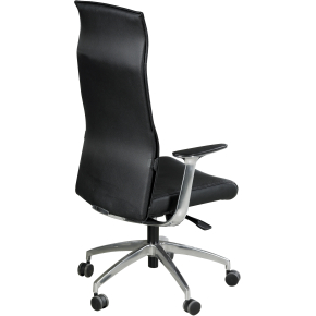Saint Tropez læderstol, sort