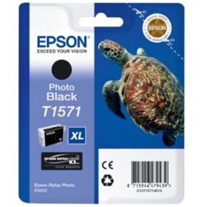 Epson nr.T1571/C13T15714010 blækpatron, sort, 26ml