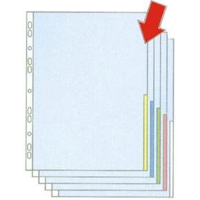 Esselte signallomme A4, PP, top+højre, 100stk,grøn