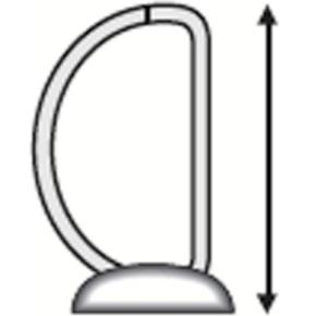 Esselte Indstiksringbind A4, 4 DR, 77 mm, hvid